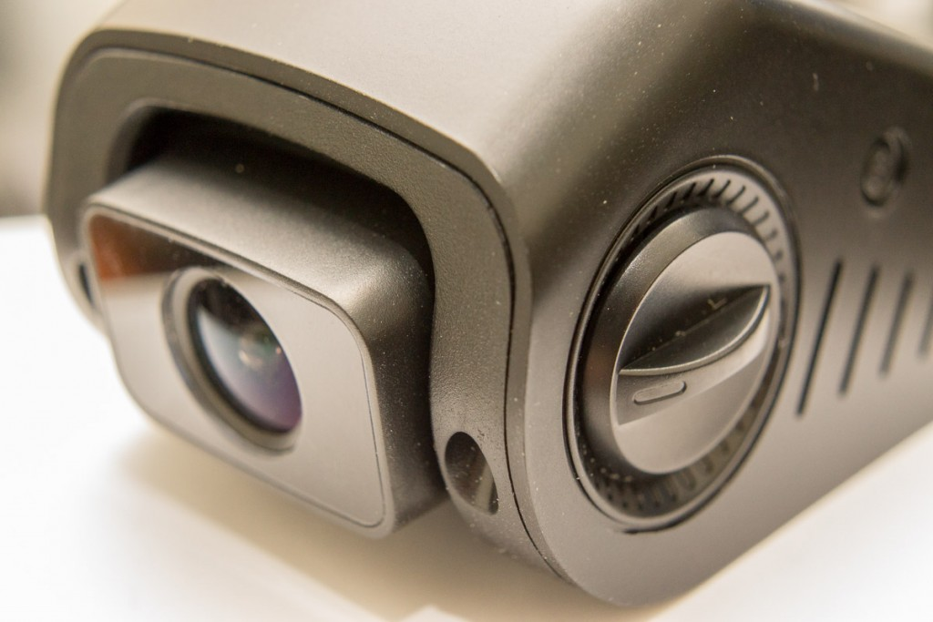 Controls knobs on either side of the camera can adjust the position of the lens.